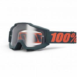 100% Crossglasögon Accuri Gun Klar Lins Grå