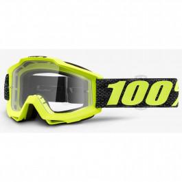 100% Crossglasögon Accuri Tresse Gul/Svart - Klar