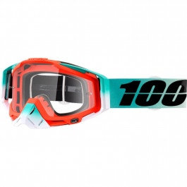 100% Crossglasögon Racecraft Cubica 2018 Turkos/Orange Klar