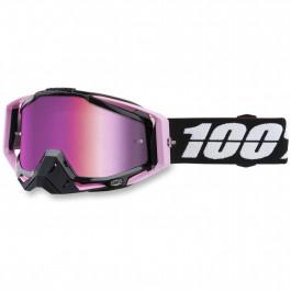 100% Crossglasögon Racecraft Floyd Svart/Rosa - Rosa