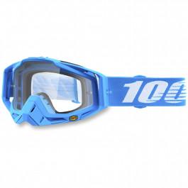100% Crossglasögon Racecraft Mono Blå/Vit - Klar