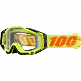100% Crossglasögon Racecraft Neon Attack Svart/Gul