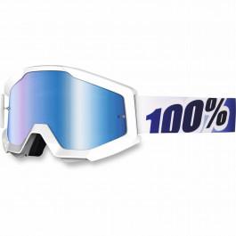 100% Crossglasögon Strata Ice Blå Spegellins Vit