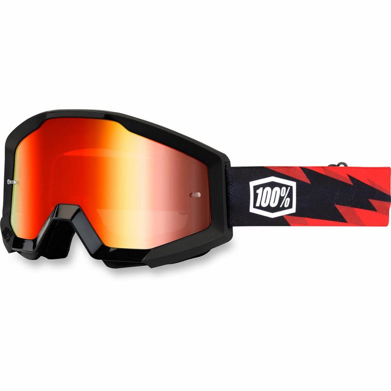 100% Crossglasögon Strata Slash Svart Röd - Motoaction efc58687d9bec