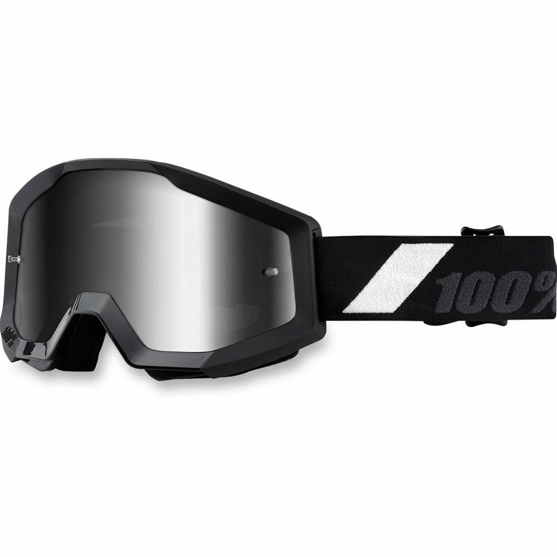 100% Crossglasögon Strata Svart Spegellins - Motoaction 04e0d632c4f05