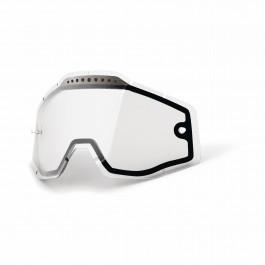 100%, Lens Vented Dual Anti-Fog, Clear