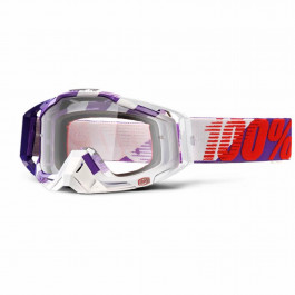 100% Racecraft Purple Main - Silver Spegellins