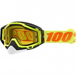 100% Skoterglasögon Racecraft Svart/Gul - Klar