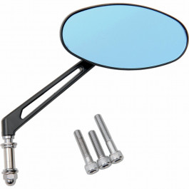 Backspeglar Stealth II Blue Sapphire Drag Specialties