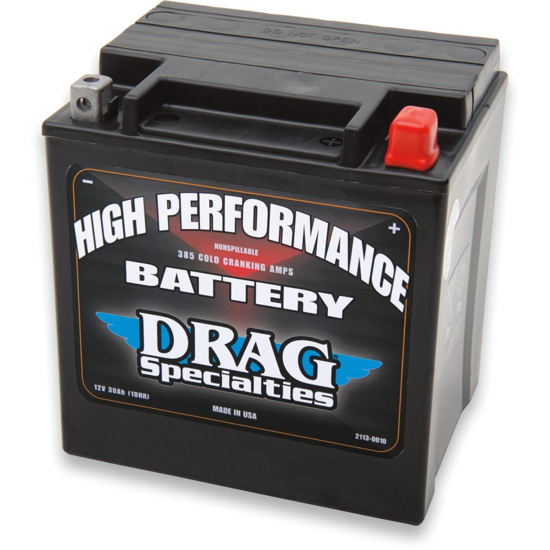 mc  mc-delar  batterier Batteri till MC - Harley Davidson FLHRSI 1450 EFI ROAD KING CUSTOM 2004 - DRAG SPECIALTIES BATTERIES - YIX30L (EU)