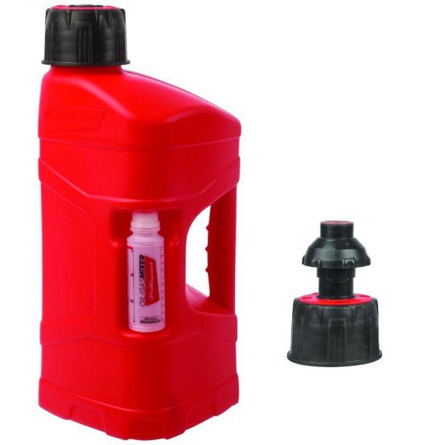 Bensindunk Pro Octane 10 Liter Quick Fill Röd POLISPORT