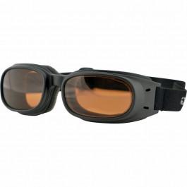 Bobster MC-Glasögon Piston Svart/Amber