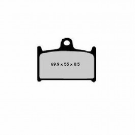 BRAKE PADS NISSIN   TYPE 2P-208NS   SEMI - METALIC