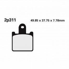 BRAKE PADS NISSIN   TYPE 2P-311ST   SINTERED