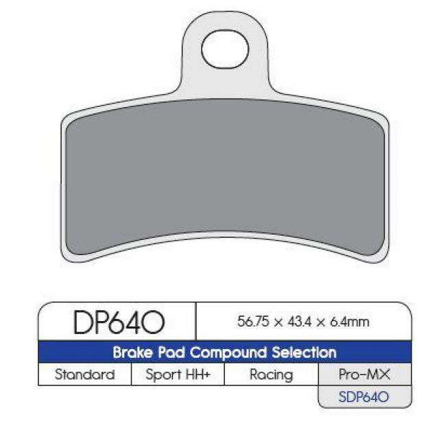 Bromsbelägg BAK MX-Pro DP-Brakes