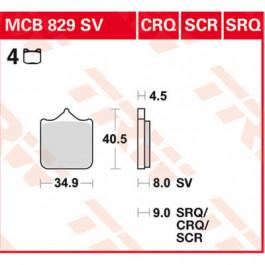 Bromsbelägg FRAM SCR Race TRW