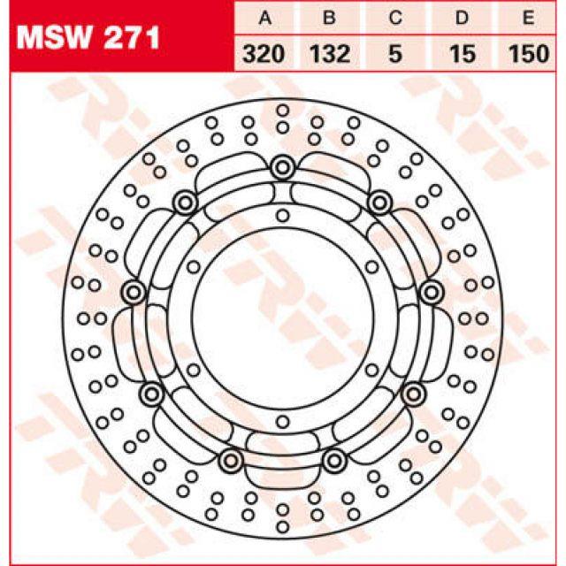 Bromsskiva Standard Fram TRW