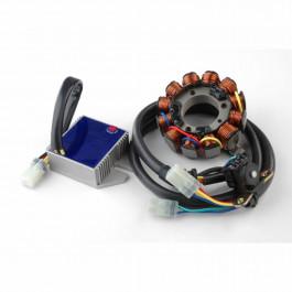CRF 450R, 2013, 70W, DC system, stator, likriktare, batteri, väska