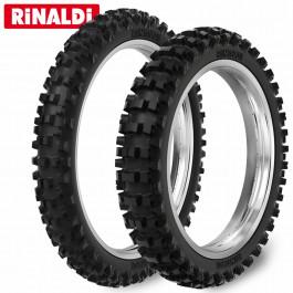 Däckset 110/90-19 - 80/100-21 RMX 35 Rinaldi
