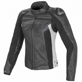 Dainese MC-Jacka Tjej Racing D1 Vit/Black