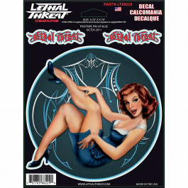 DECAL PINSTRIPE PIN UP BL