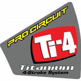Dekal End Cap Värmetålig Ti-4 Universal Pro Circuit