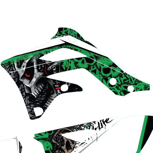 Dekalkitt Komplett KAWASAKI Skull Motoaction