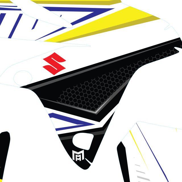 Dekalkitt Komplett SUZUKI ADVANCE Logo Motoaction