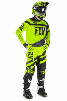 FLY Crosskläder F-16 2018 Svart/Hiviz/Gul