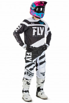 FLY Crosskläder F-16 2018 Svart/Vit