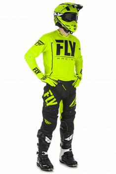 FLY Crosskläder Lite Hydrogen 2018 Hi-Vis/Gul/Svart