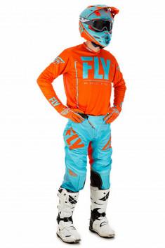 FLY Crosskläder Lite Hydrogen 2018 Orange/Blå