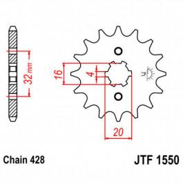 FRONT SPROCKET 428 13T