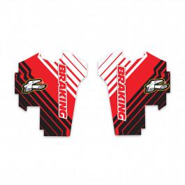 Gaffelbensdekaler Stripe Logo Motoaction