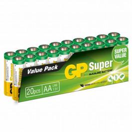 GP Alkaline AA Batteri Super 15A LR6 AA 20 st