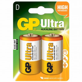 GP Alkaline Batteri Ultra 13AU LR20 D 2 st