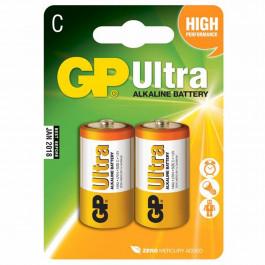 GP Alkaline Batteri Ultra 14AU LR14 C 2 st