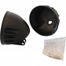 H/LAMP SHELL A BLACK