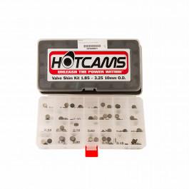 Hot Cams, Shimskit, 1,85mm-3,25mm, totalt 84 shims., 10mm