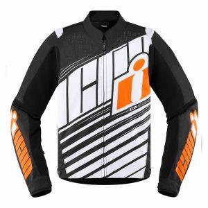 ICON Textiljacka Overlord SB2 Orange/Svart/Vit