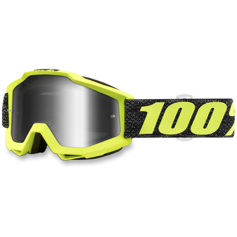 100% Crossglasögon Accuri Tresse Gul/Svart - Silver
