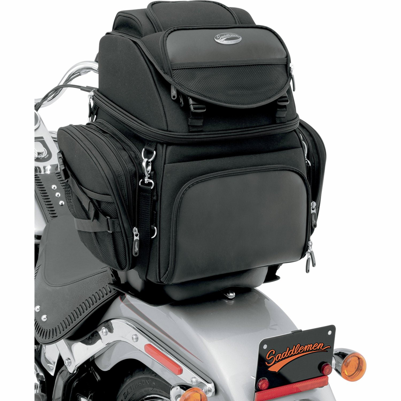 BR1800 och BR3400 Baksäte eller Sissy Bar Väskor Saddlemen