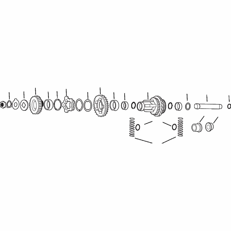 CLUSTER GEAR 36-E76 4-SPD