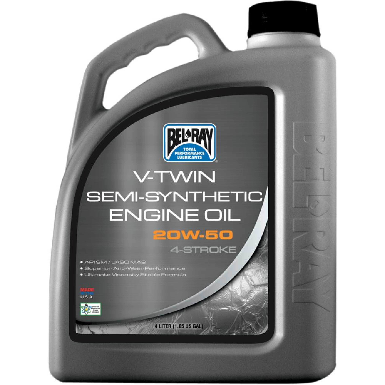 OIL VTWIN SEMI 20W50 4L (1GAL)