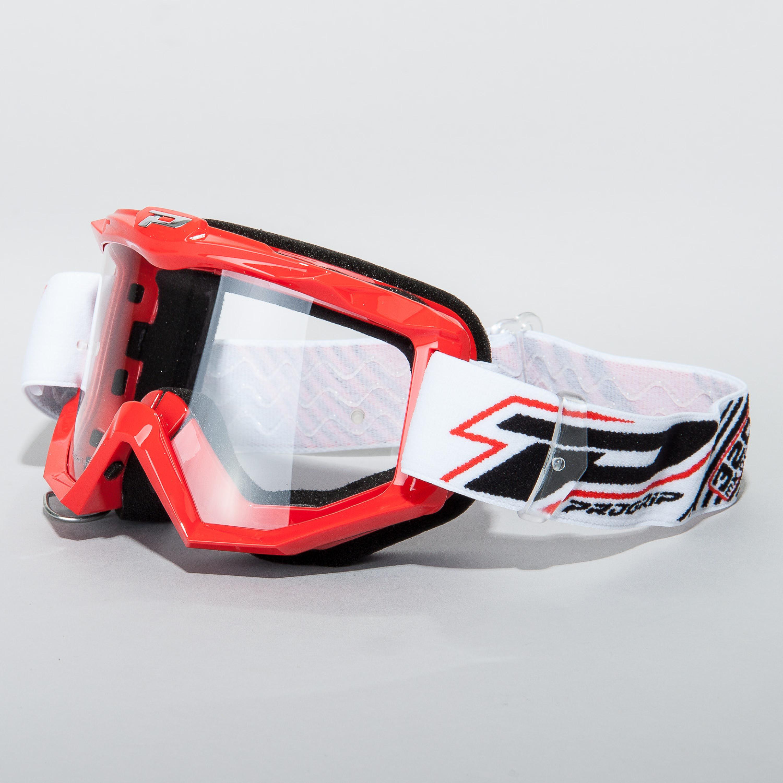 Progrip Crossglasögon Race Line Röd