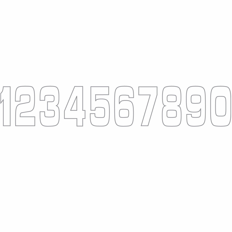 Siffror vita 11x5 cm HOLESHOT