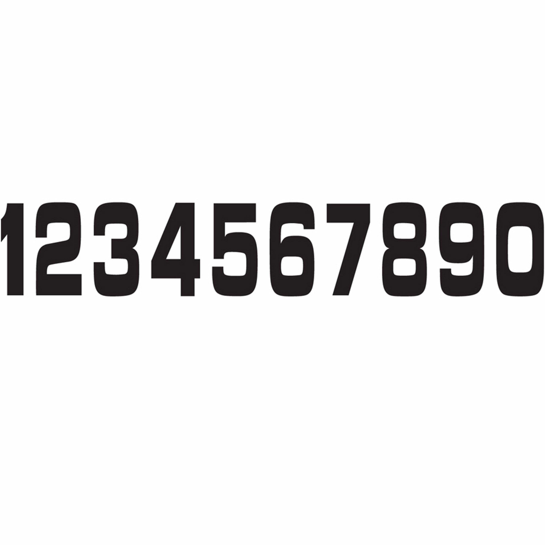 Siffror Svarta 11x5 cm HOLESHOT