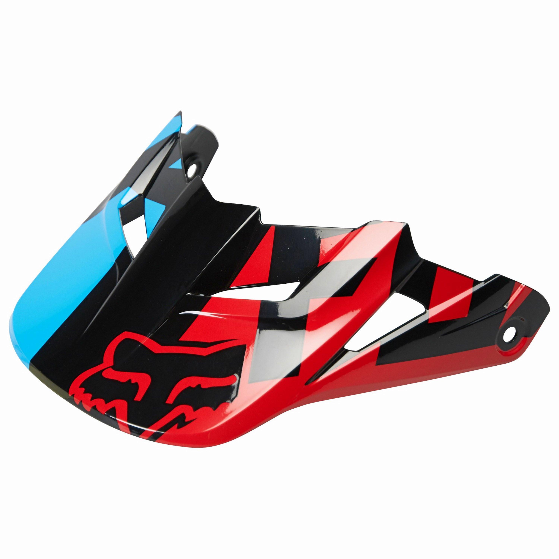 Fox V1 Race Helmet Visor Blå/Röd