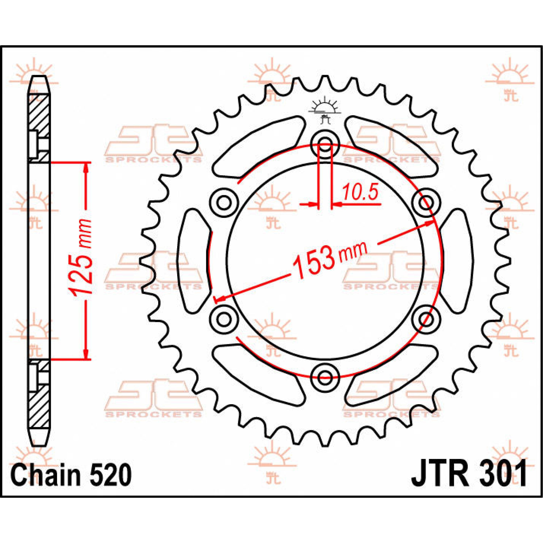 REAR SPROCKET 520 40T