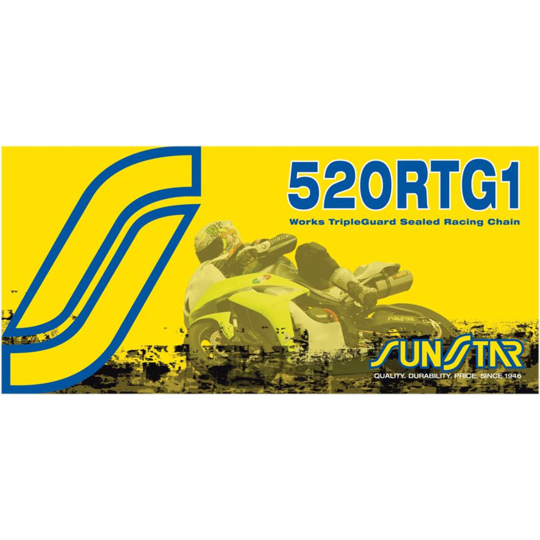 Kedja W-Ring 520 RTG1 Guld SUNSTAR